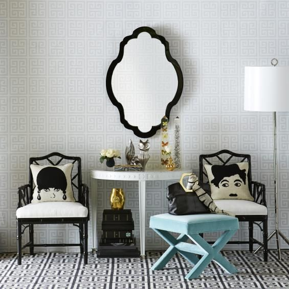 Black & White with a touch of mint-willow-interiors