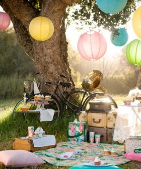 Sweet sixteen Picnic Party.  Lots of party decorations available at Mi Emporium.