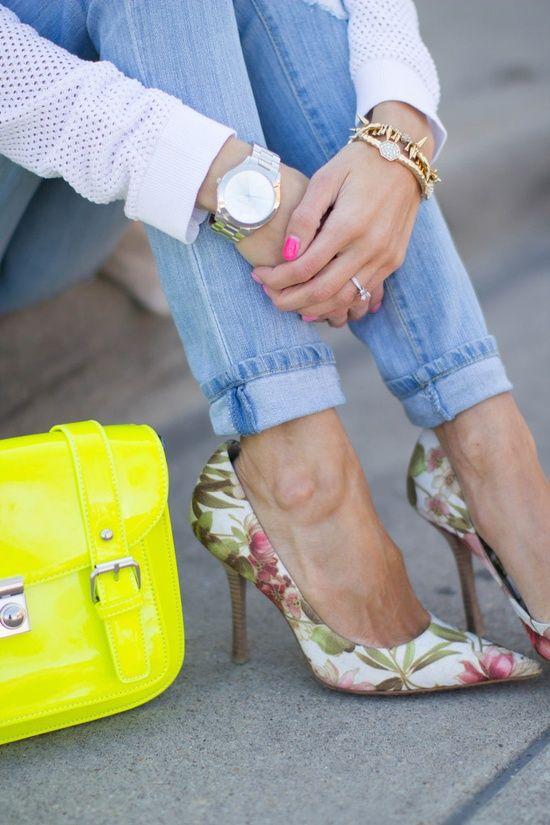 floral stilettos...