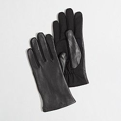 Factory leather tech gloves