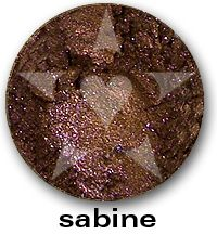 """Sabine has vivid sparks of violet and pink within a base of richly pigmented smokey copper. From Aromaleigh Mineral Cosmetic's """"Bete Noire"""" Mineral Eyeshadow Collection... http://www.aromaleigh.com/nebnomieyco.html"""