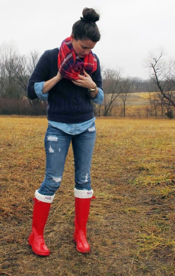 i could wear hunter boots all day everyday!