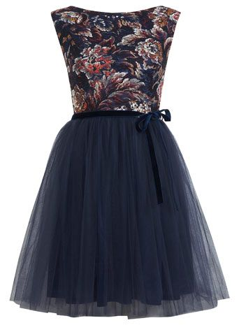 Floral Print Mesh Tutu Dress - Dresses  - Clothing