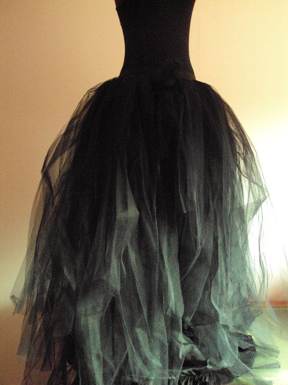 gives me a great idea... Black Tulle Skirt Halloween Goth Steampunk  by thetutustoreuk, $175.00