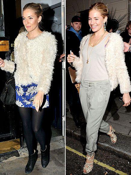 Fuzzy sweater + Sienna Miller = Ah-mazing