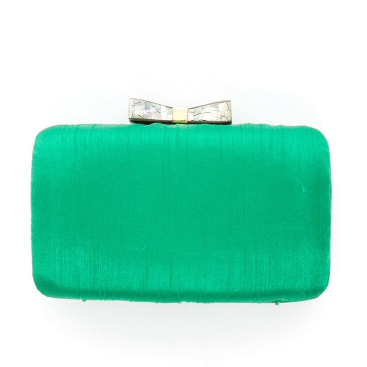 Anne Satin Bow Clutch | Tuckernuck