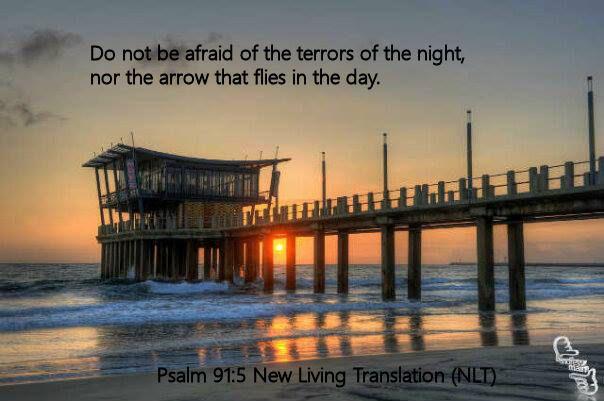 Psalm 91.5 New Living Translation (NLT)