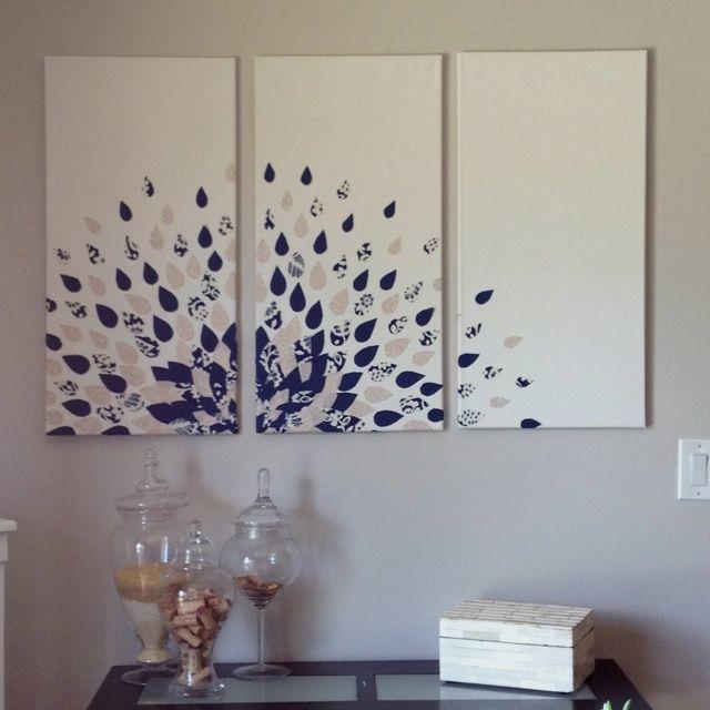 diy wall art canvas decor craft ideas pinterest on canvas wall art id=70745