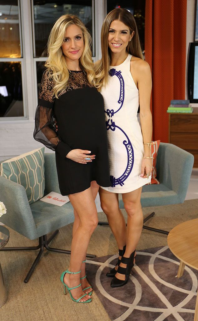 Co-hosts Kristin Cavallari and Orly Shani pose before shooting the series premiere of The Fabulist!
