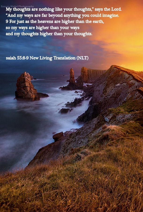 isaiah 55.8-9 New Living Translation (NLT)