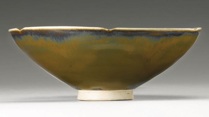 A 'Ding' persimmon-glazed lobed bowl, Song Dynasty