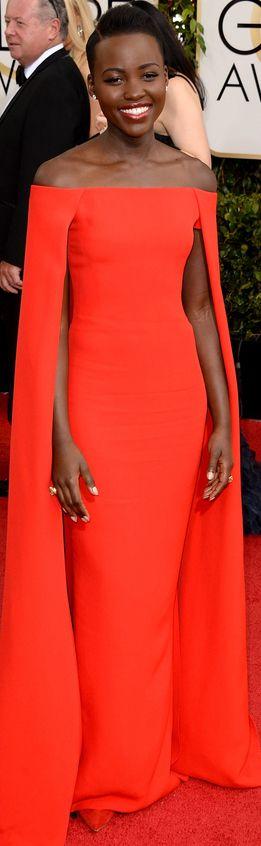 Lupita Nyong'o in Ralph Lauren | Golden Globes
