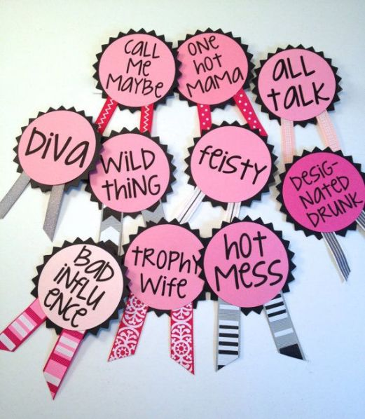 Bachelorette Party Pins Name Tags Bachelorette by LetsWearDresses, $2.00