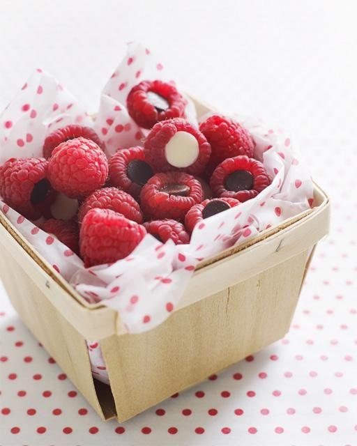 Sweet Paul's Chocolate Chip Filled Raspberries