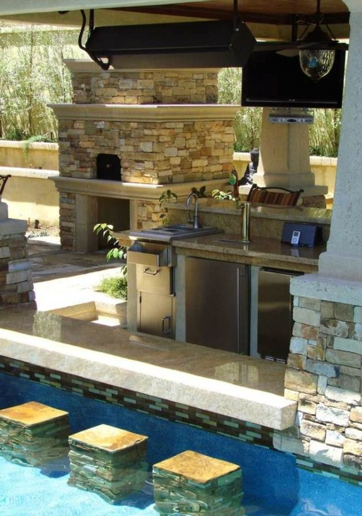 Swimming Pool Bar Design | Home Is Where the Heart Is ... on Backyard Pool Bar Designs id=75917