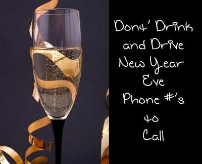 Free rides for New Year's Eve drunk drivers: Phone numbers ...