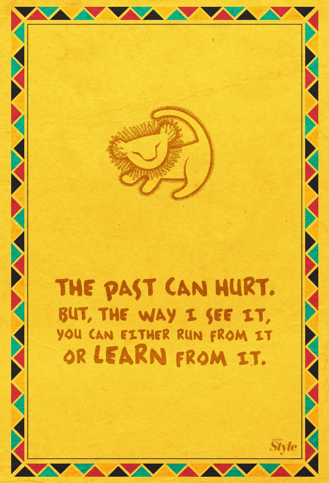 Weekly Affirmation: Learn From the Past | Disney Style