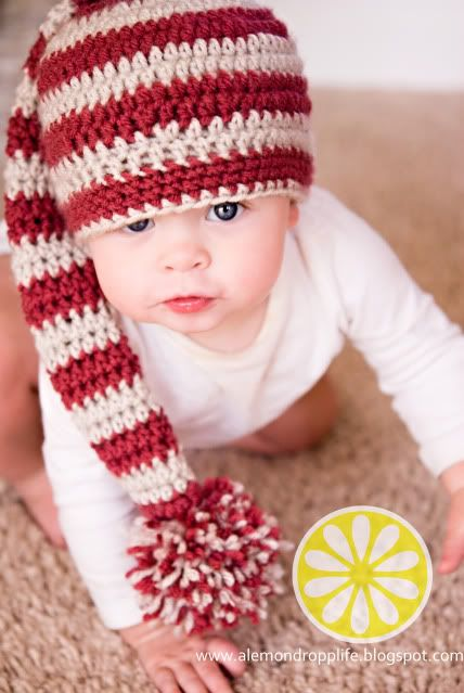 crochet elf hat free pattern  Long Tail Stripey Hat Pattern - I made up mine for Zander but I'm glad to have a starting point if I ever want to make another.
