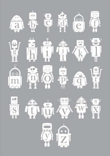 алфавит с роботами