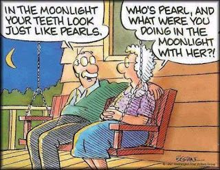 Funny old couple humor Cartoon