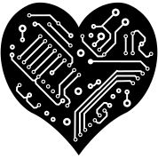Technology Heart (1 color)