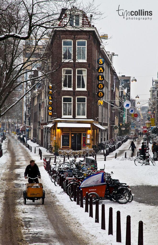 Amsterdam, op de hoek bij de Westermarkt waar ik altijd m'n fiets neerzet :)