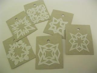 Geschenkanhänger aus Pizzakarton und Druckerpapierverpackung
