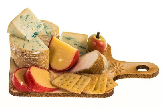 stilton and assorted cheese with crackers board dollhouse miniature food