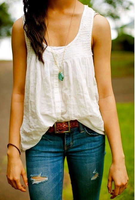 One can never have too many white tops.