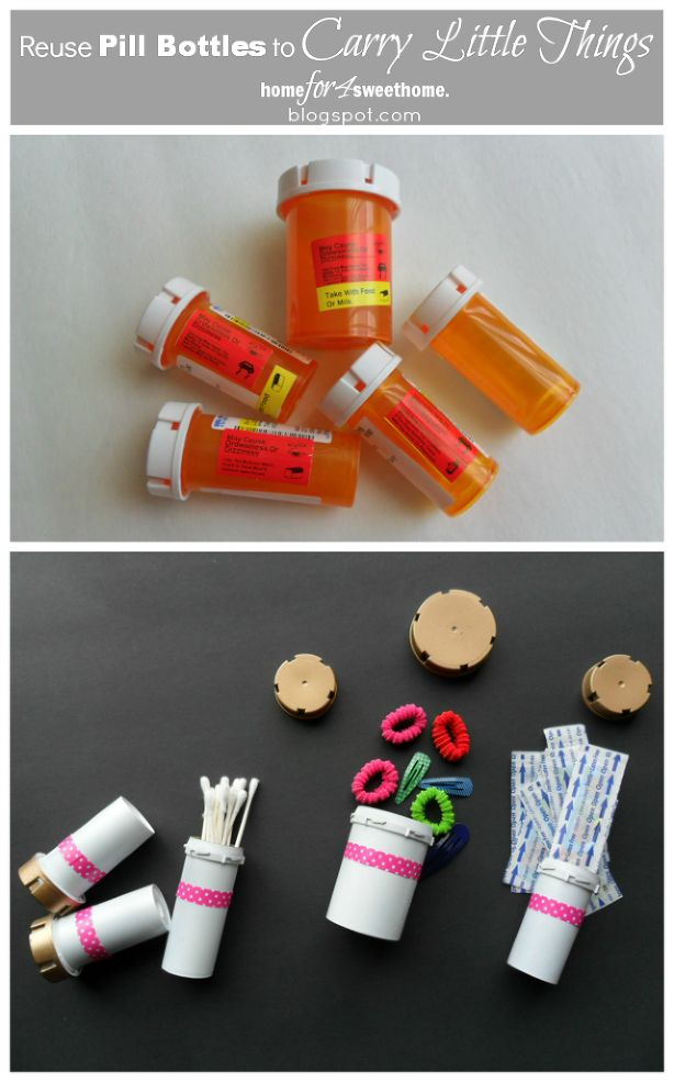 Taking medication never looked so good! Look what you can do with all your old bottles!