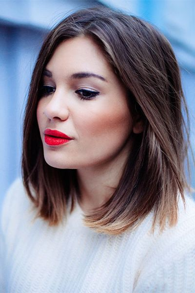 50 Fall Haircuts to Copy Right Now   Daily Makeover /A shoulder-length blunt cut is versatile and easy to style.