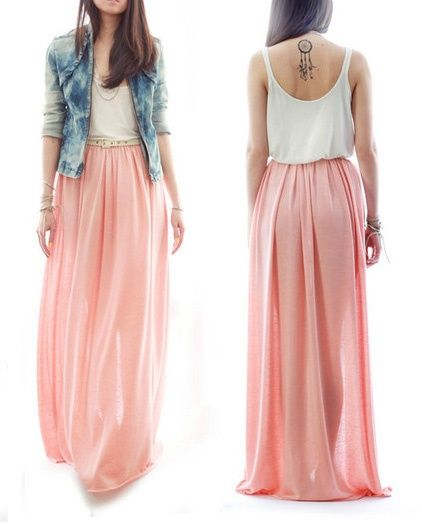 I dont know why, but Im loving the idea of long flowy oversized skirts right now....sounds sooo comfortable.
