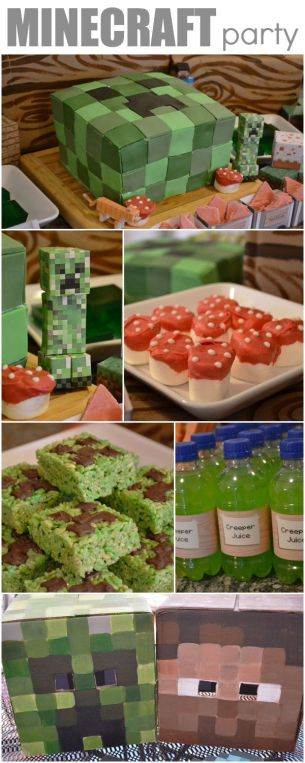 minecraft party food ideas - Having a Minecraft party will make your child the envy of all their friends. You kind of have to throw the birthday party now that they are getting older.If you have to create a Minecraft world in your own home and have no idea what to do, check out these epic suggestions in this Minecraft Party roundup.