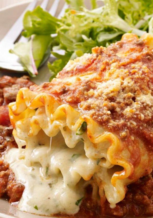 Creamy Beef Lasagna Roll-Ups
