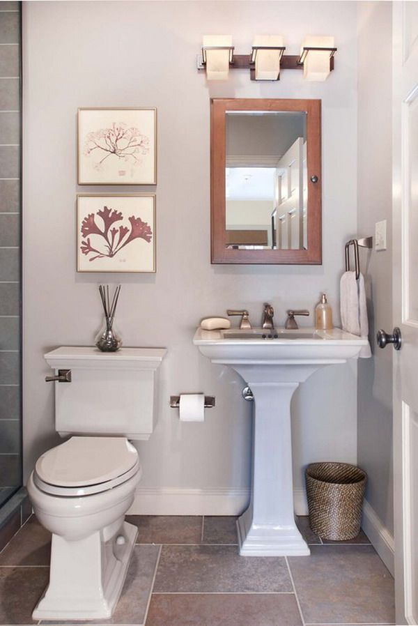 Decorating A Small Bathroom Ideas   Bathrooms   Pinterest on Small Bathroom Ideas Pinterest id=70520