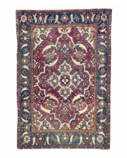 An Isfahan part-cotton and metal-thread rug, Central Persia, second quarter 17th century