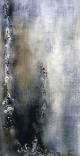 Zao Wou-Ki, Vent, oil on canvas, 1954, Centre Pompidou National Art Museum, Paris, Centre of Industrial Design Collection ©Centre Pompidou National Art Museum, Paris, Centre of Industrial Design Collection
