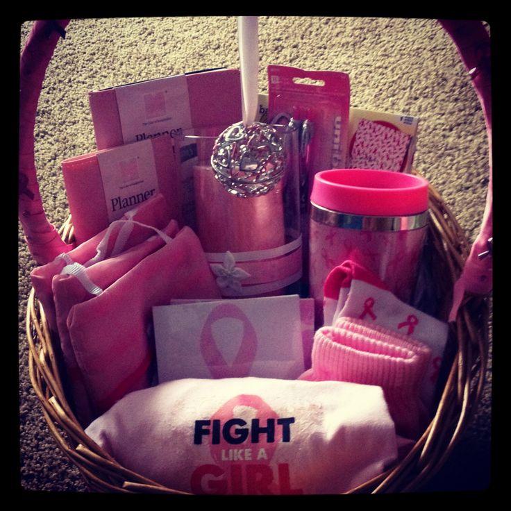 Breast cancer awareness basket gift basket ideas