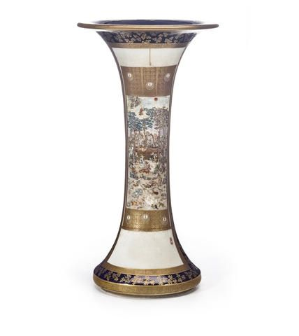 A tall and fine Satsuma vase.By Sozan for the Kinkozan studio, Meiji period (late 19th century)