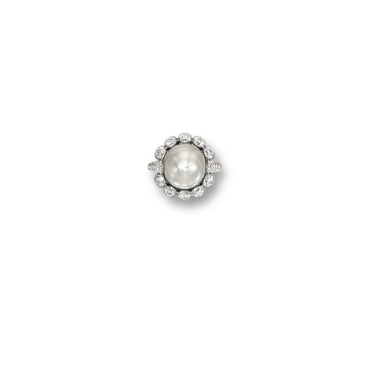 Natural Pearl and Diamond Ring | Lot | Sotheby's