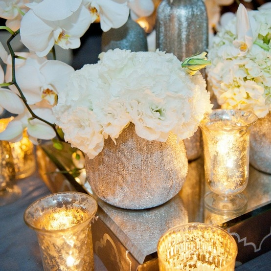 White Flowers | Gold | Peony | Orchid