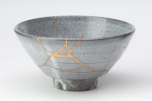 Tea bowl with #kintsugi
