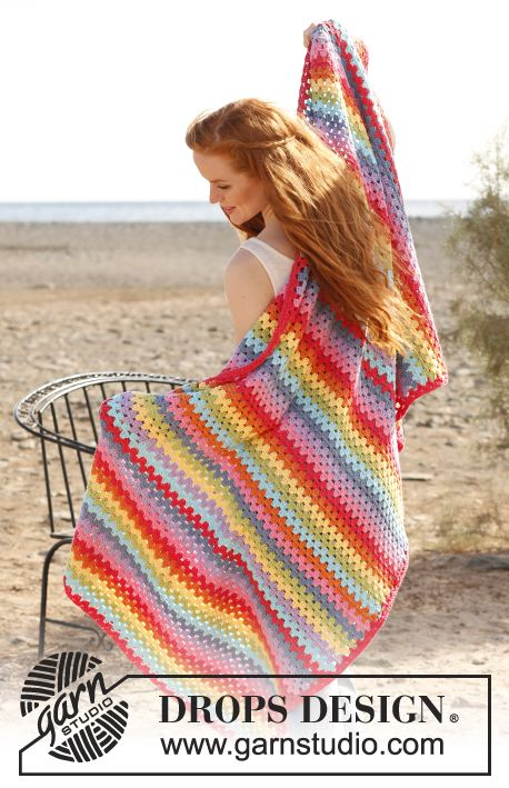 Crochet blanket from Drops (Paris)
