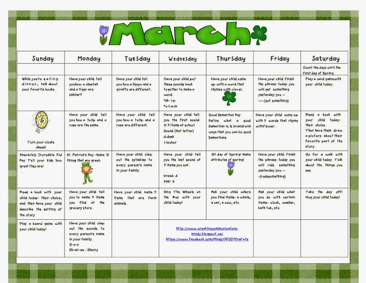 Blog post and Language Calendar for Parents!