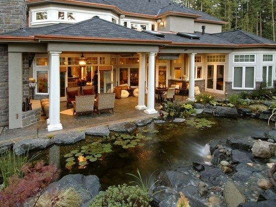 covered back porch   Future Home   Pinterest on Covered Back Porch Ideas id=94913
