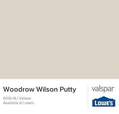 Woodrow Wilson Putty by Valspar {neutral paint colors from Valspar}