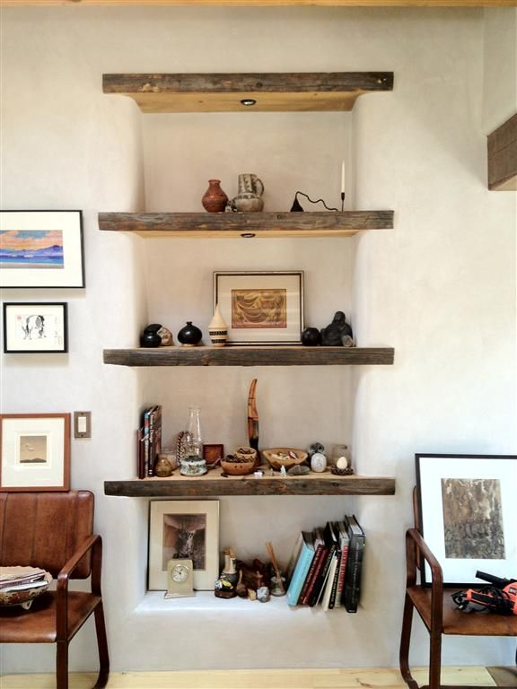 Inset shelves