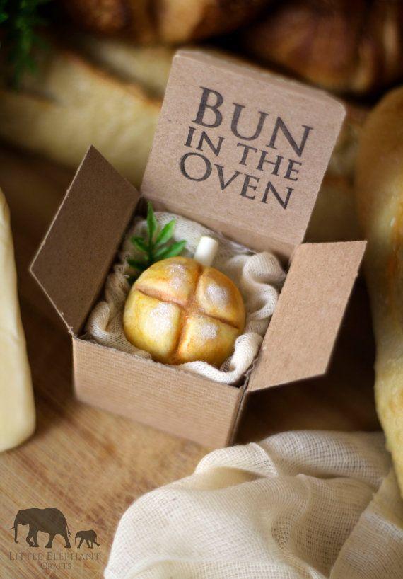 Custom Bun in the Oven Pregnancy by LittleElephantCrafts on Etsy, $7.00
