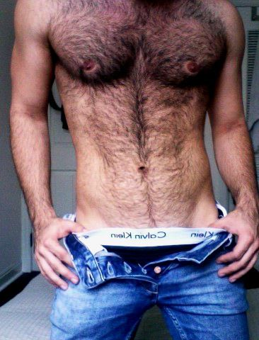 Yes, people.  Some men have chest hair.