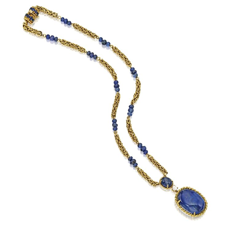 18 Karat Gold, Sapphire and Diamond Necklace, Van Cleef & Arpels | Lot | Sotheby's